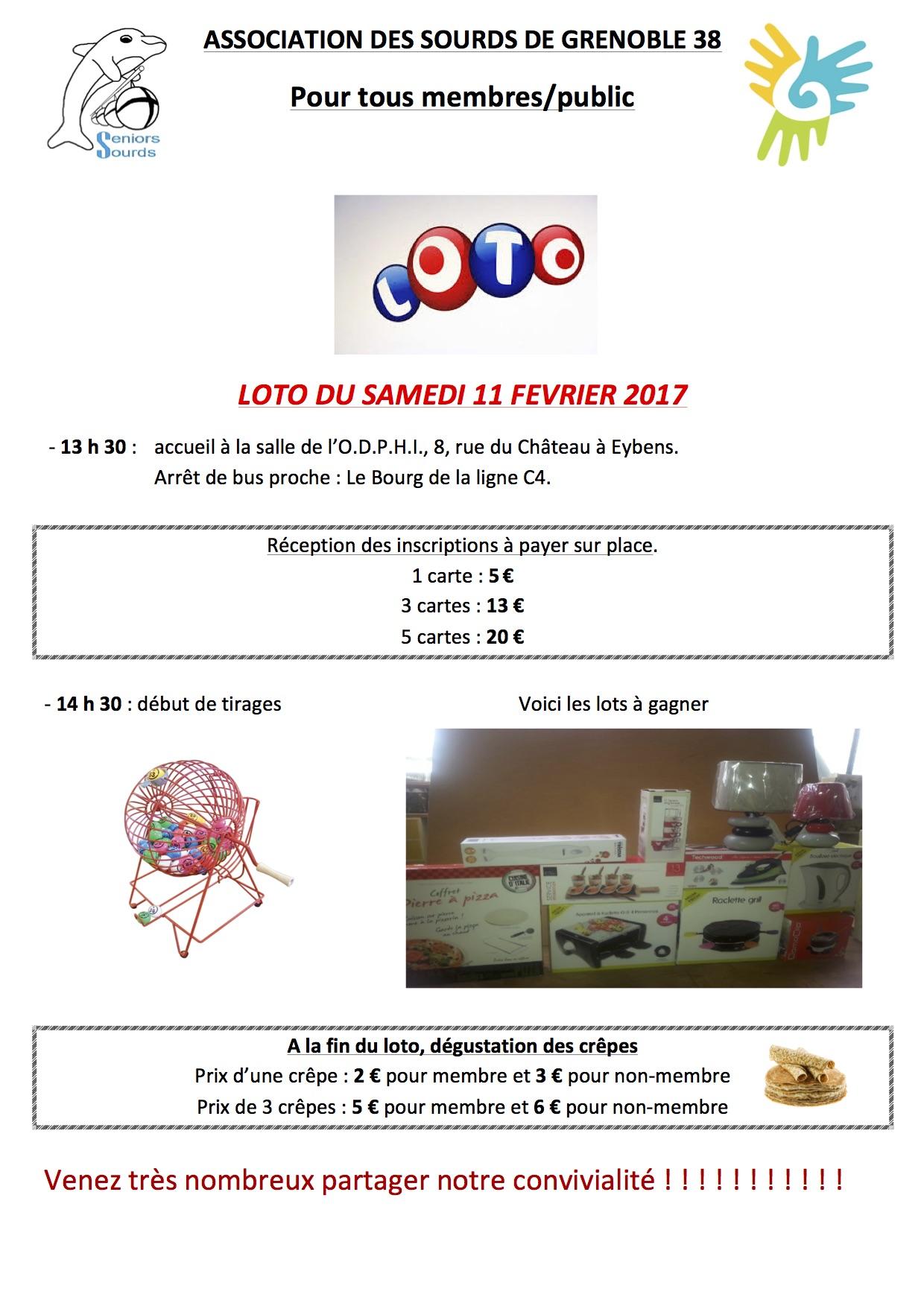 Programme du 11 février 2017