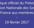 Communiqué du Président FNSF – 19 Février 2017