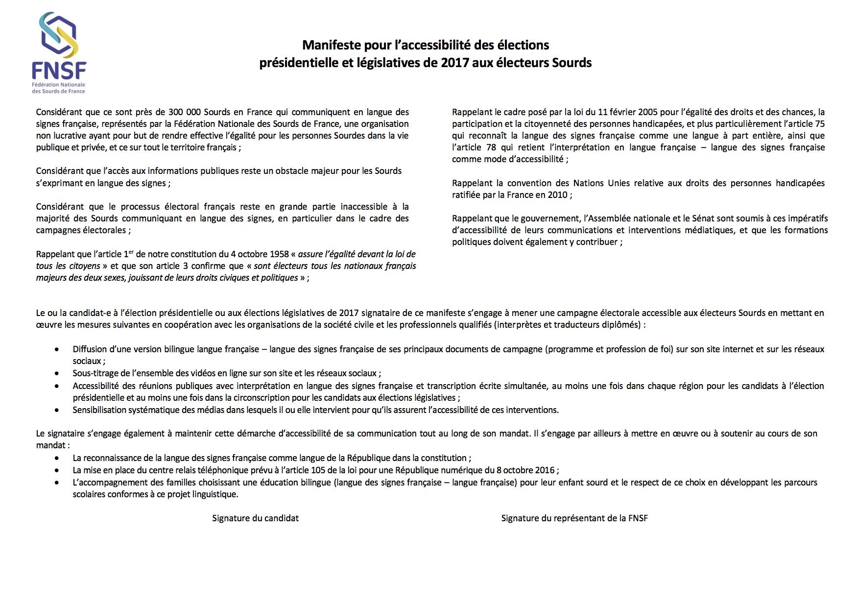 Manifeste electorale
