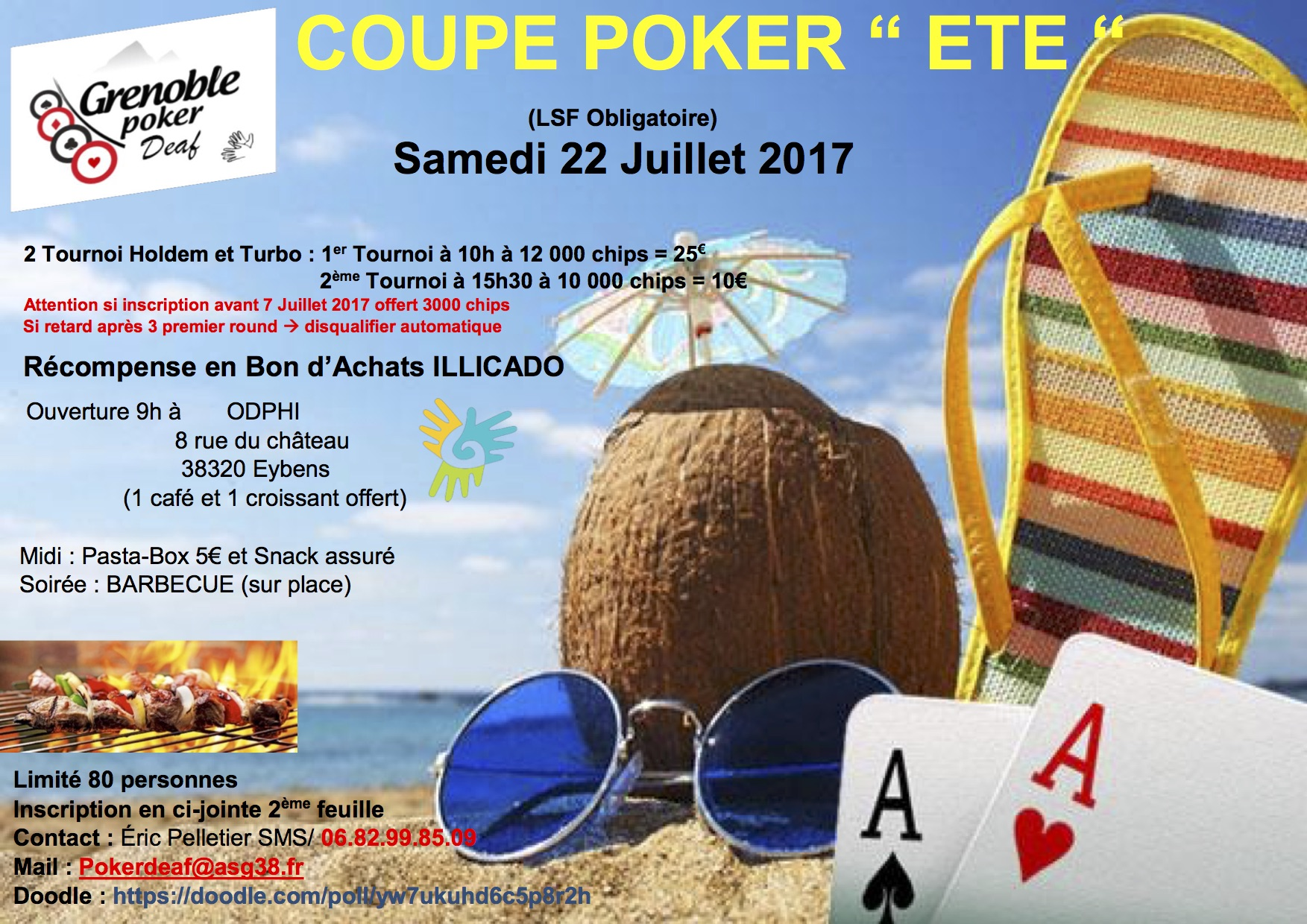 coupe poker deaf grenoble