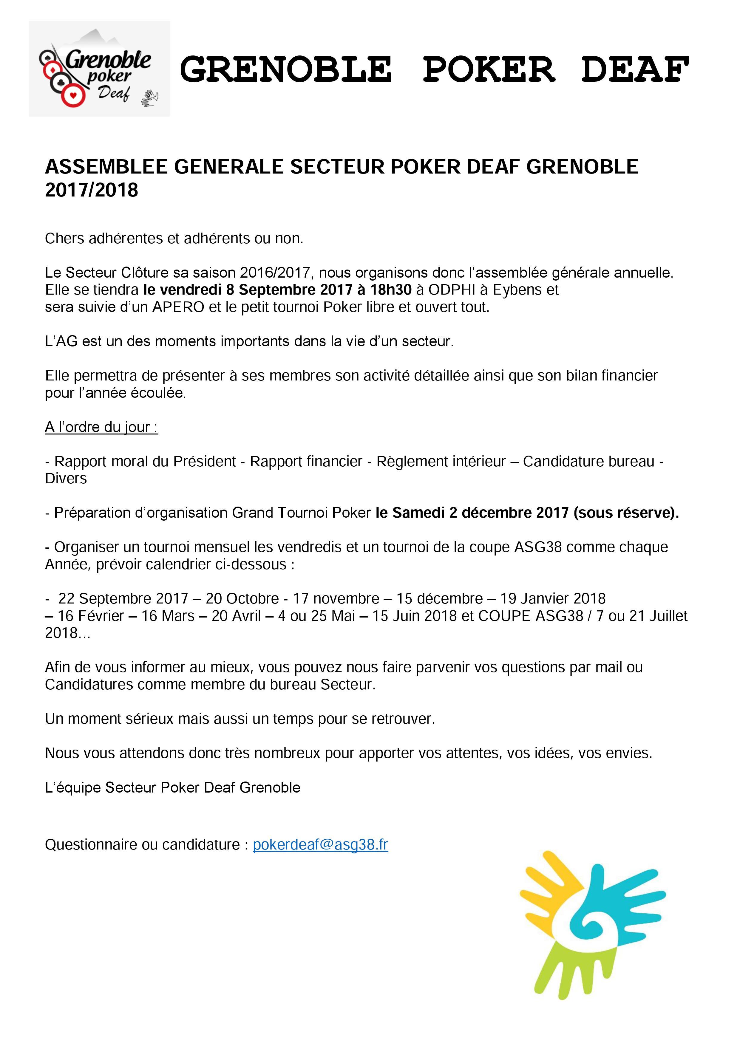 AG Grenoble Poker Deaf