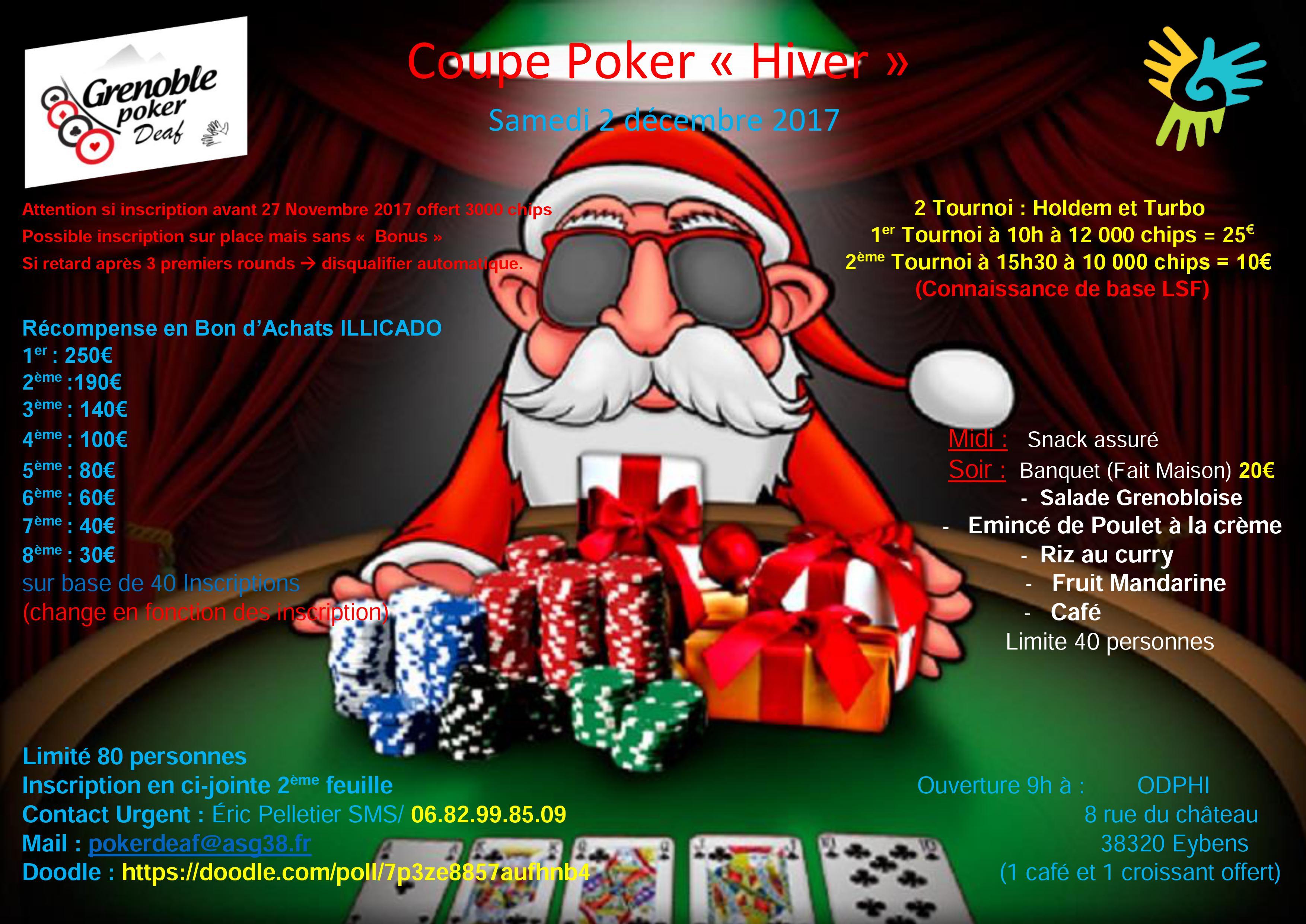 Coupe Poker hiver (grenoble) 2 decembre 2017