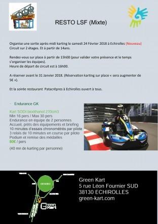 RestoLSF le 24 Février 2018 (Karting et Resto)