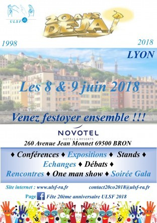 20 ans ULSF à Lyon (8 et 9 Juin)