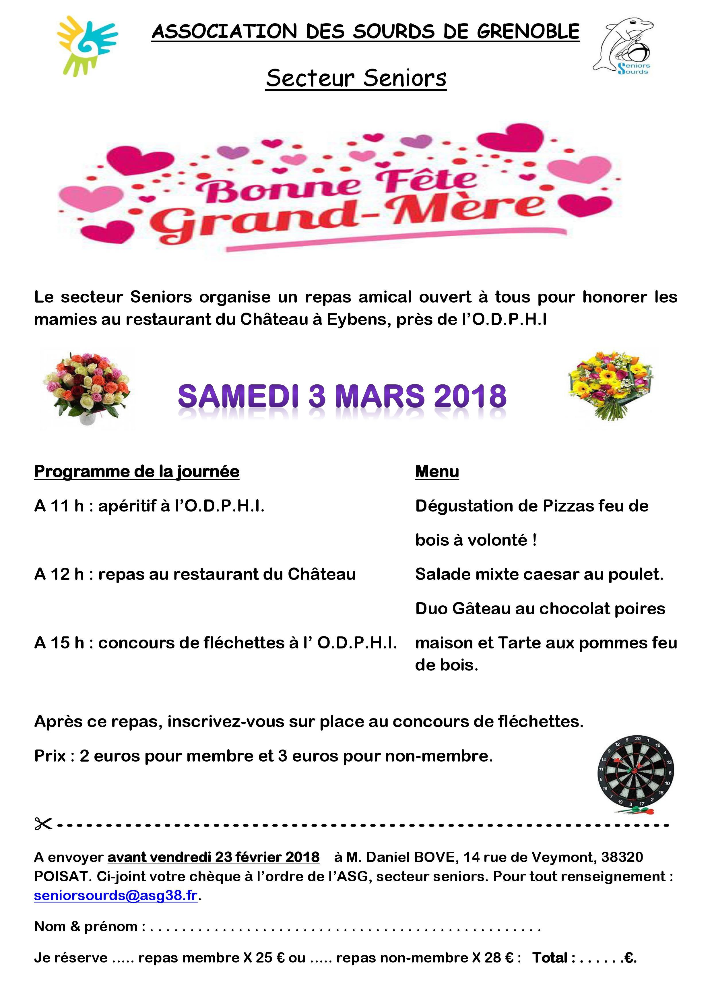 Programme du 3 mars 2018