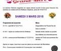 Fête des Grand-Mère le Samedi 3 Mars