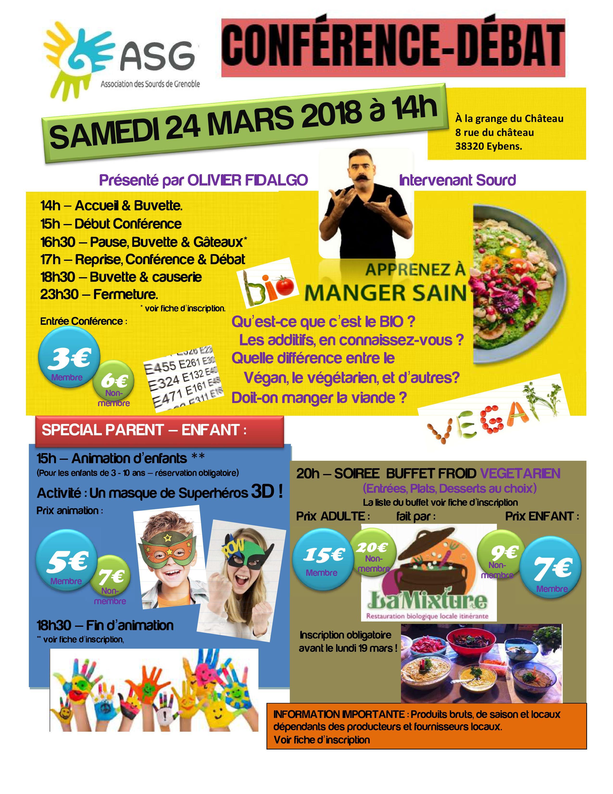 conférence vegan 24 mars 2018