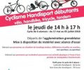 Cyclisme Handisport débutants a partir 17 mai
