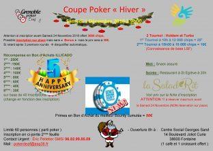 Coupe Poker Hiver 1er Décembre 2018 à Fontaine (secteur poker deaf Grenoble)