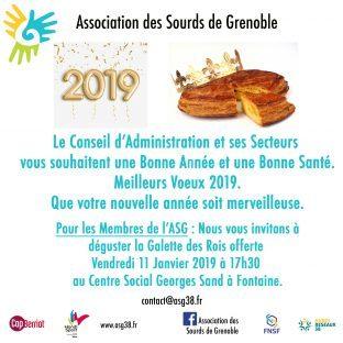 Vœux ASG et Galette de Roi le 11 Janvier