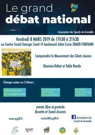 Grand Débat National (le 8 Mars) à Fontaine