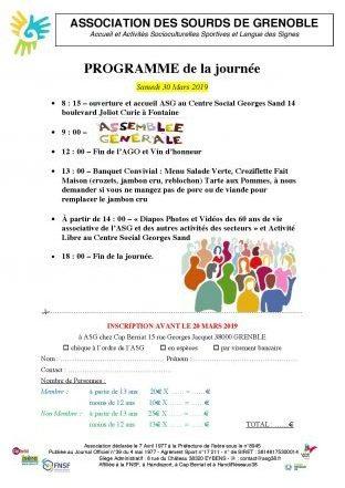 Programme de la journée 30 Mars + convocation AGO et Candidatures