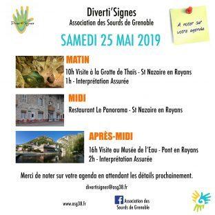 Visite Musée et la Grotte + Restaurant le Samedi 25 Mai (Secteur Diverti'signes)